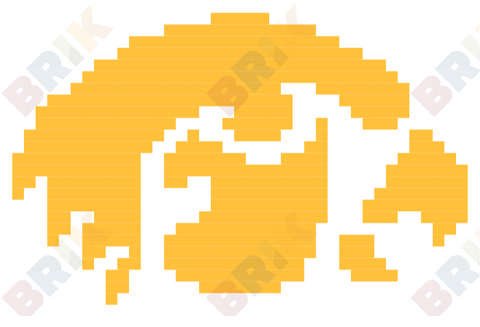 Iowa Hawkeyes Pixel Art