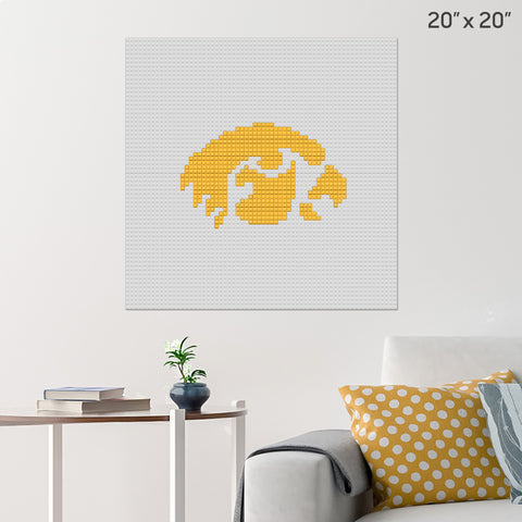 Iowa Hawkeyes Brick Poster