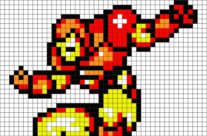 Pixel Art Iron Man Facile