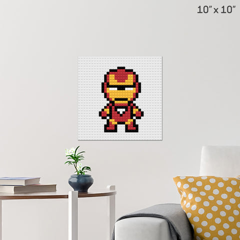 Iron Man Brick Poster