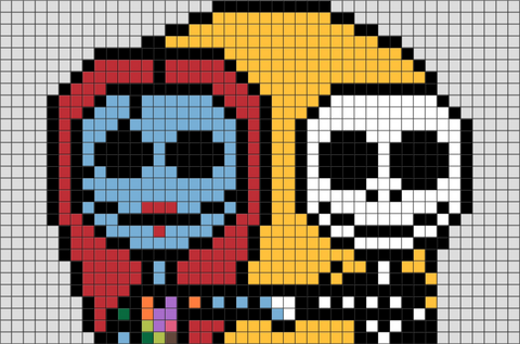 Jack and Sally Pixel Art
