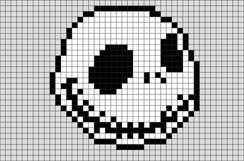 Jack Skellington Pixel Art