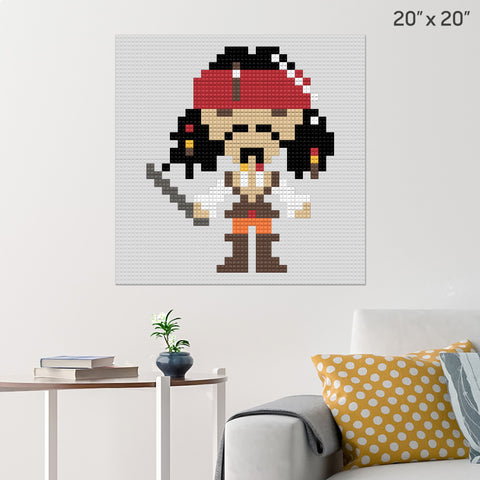 Jack Sparrow Pirate Large Brick Poster