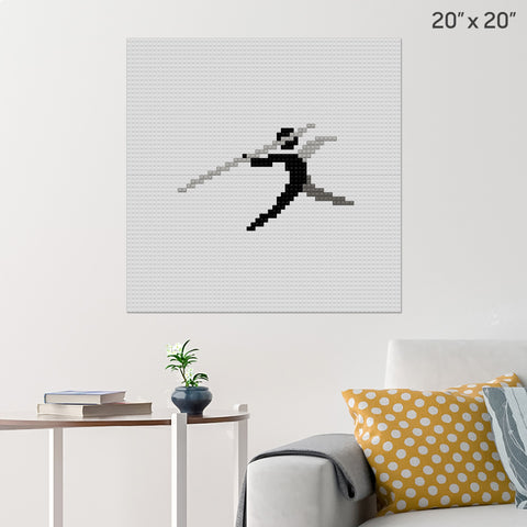 Javelin Throw Brick Poster