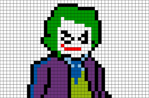 Joker Batman Pixel Art