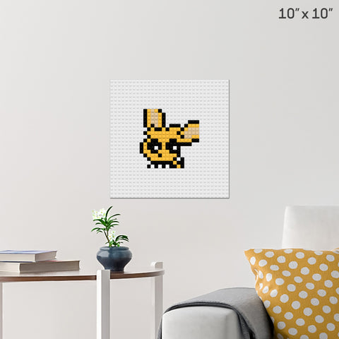 Jolteon Brick Poster
