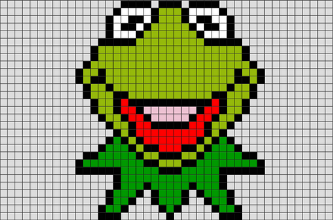 Kermit the Frog Pixel Art
