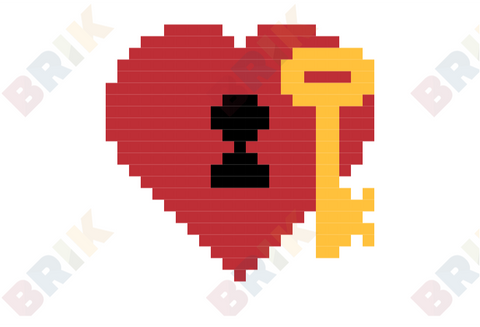 Key to My Heart Pixel Art