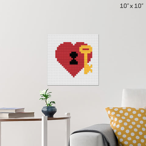 Key to My Heart Brick Poster