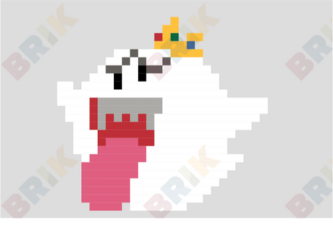 King Boo Pixel Art