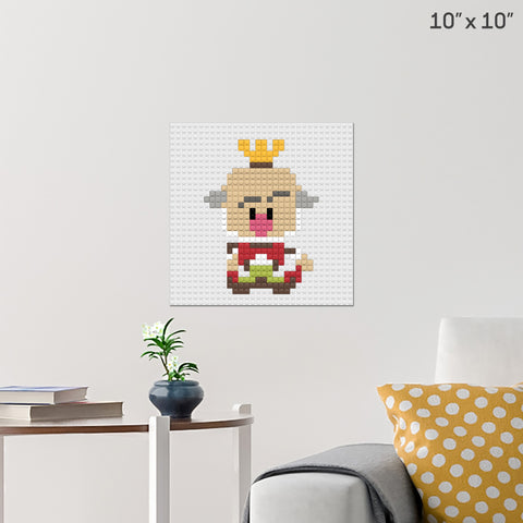 King Candy Brick Poster