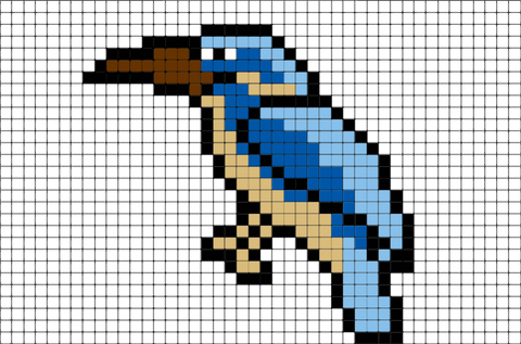 Kingfisher Pixel Art