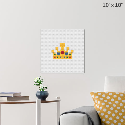 King's Crown Brick Poster