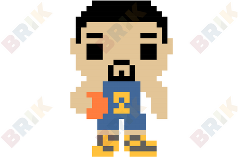 Klay Thompson Pixel Art