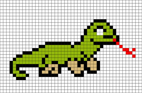 Komodo Dragon Pixel Art
