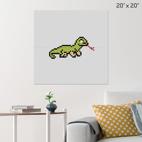 Komodo Dragon Brick Poster