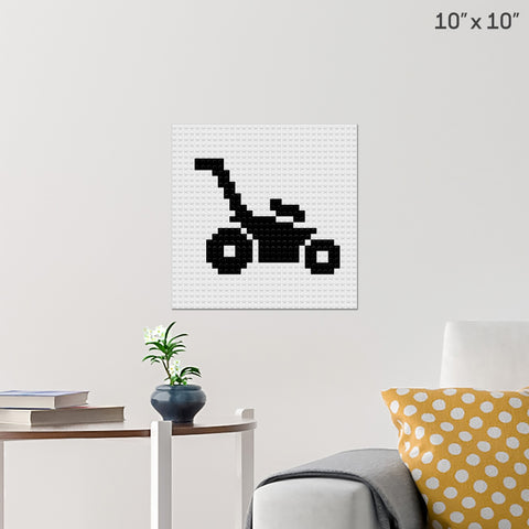 Lawn Mower Brick Poster