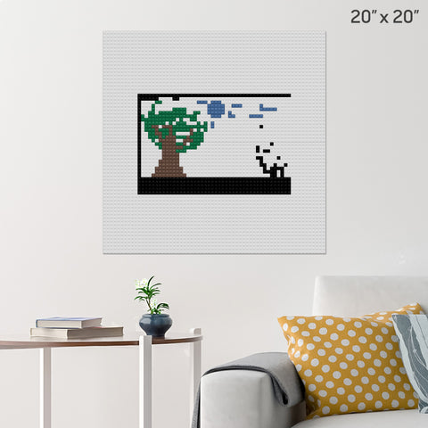 forest Brick Poster