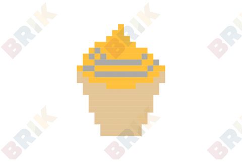 Lemon Cupcake Pixel Art