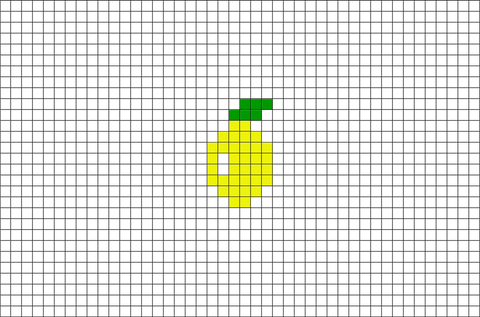 Lemon Pixel Art