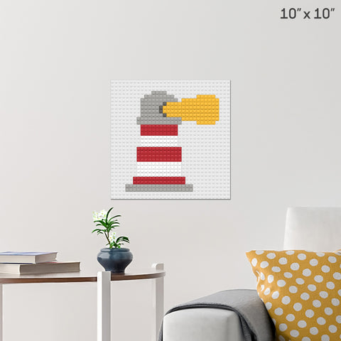 Lighthouse Brick Poster