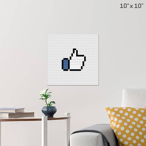 Like Button Brick Poster