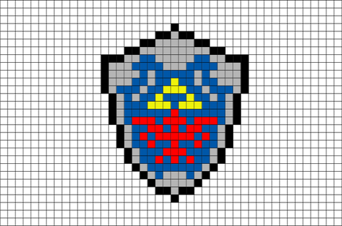 Link Shield Pixel Art