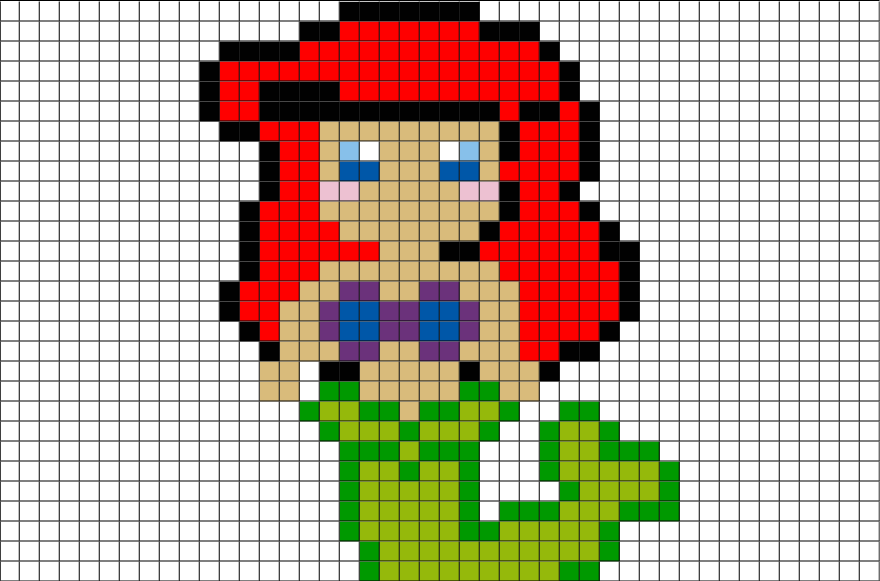 little mermaid ariel pixel art � brik
