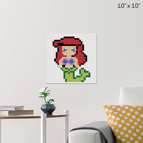 Little Mermaid Ariel Brick Poster