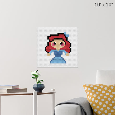 Little Mermaid Brick Poster