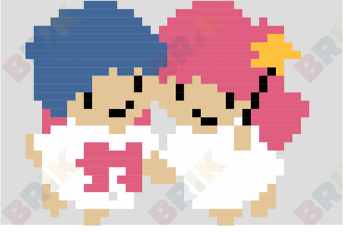 Little Twin Stars Pixel Art