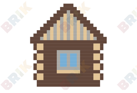 Log Cabin Day Pixel Art