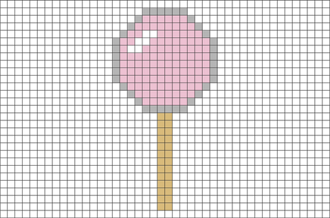 Lollipop Pixel Art