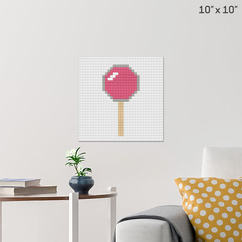 Lollipop Brick Poster