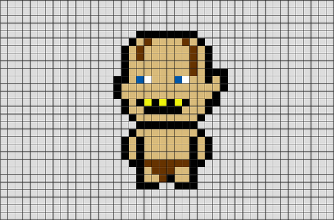 Lord of the Rings Gollum Pixel Art