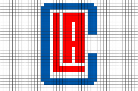 Los Angeles Clippers Pixel Art Brik