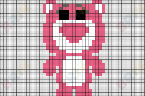 Lots-o'-Huggin' Bear Pixel Art