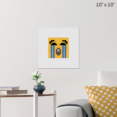 Loudly Crying Face Brick Poster