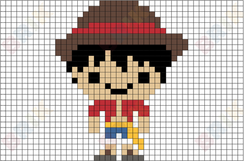Monkey D. Luffy Pixel Art
