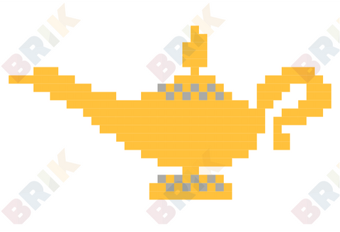 Magic Lamp Pixel Art