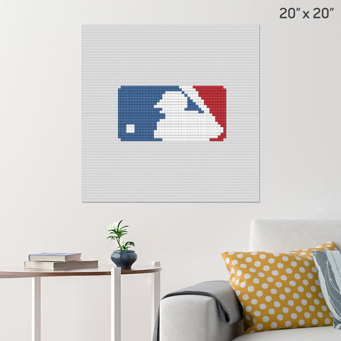 Major League Baseball Brick Poster
