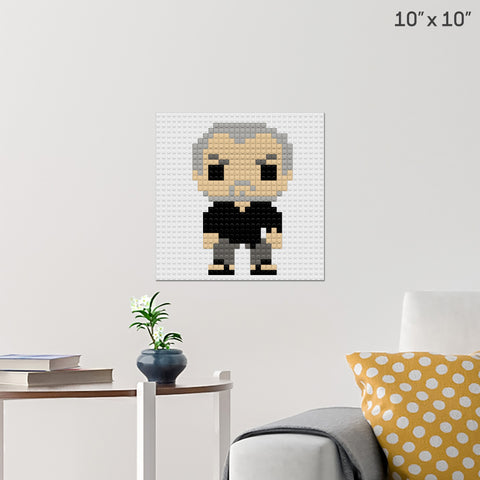 Man in Black Brick Poster