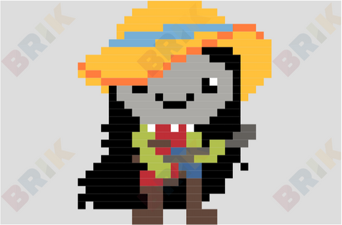 Marceline the Vampire Queen Pixel Art