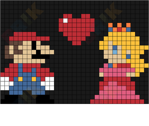 Mario and Princess Love