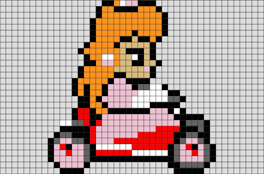 Princess Peach Pixel Art Peach