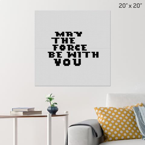 May the Force Be With You Brick Poster