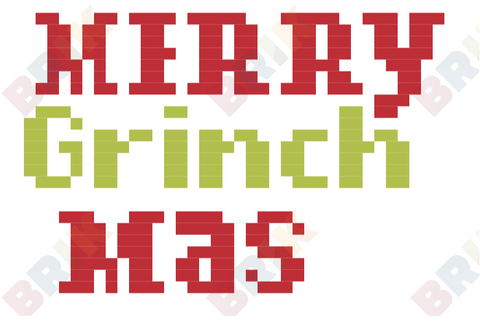 Merry Grinch-mas Pixel Art