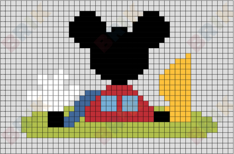 Mickey Mouse Clubhouse Pixel Art