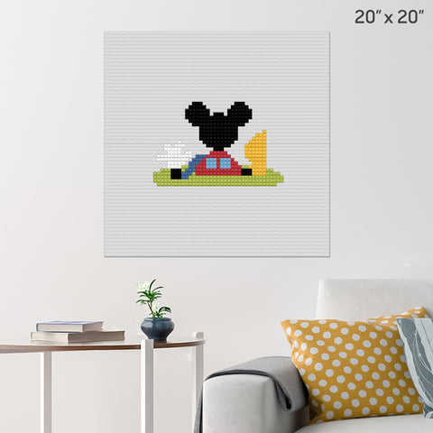 Mickey Mouse Clubhouse Brick Poster