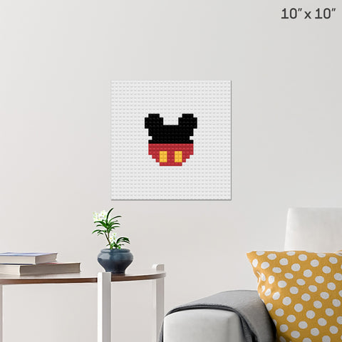 Mickey Mouse Brick Poster